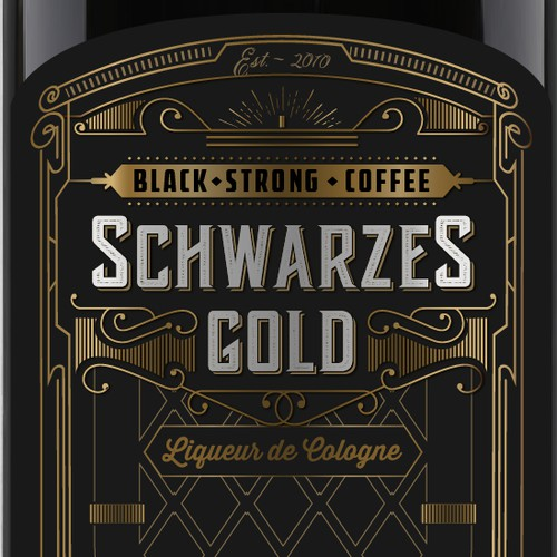 "Coffee liqueur called ""Black Gold"""