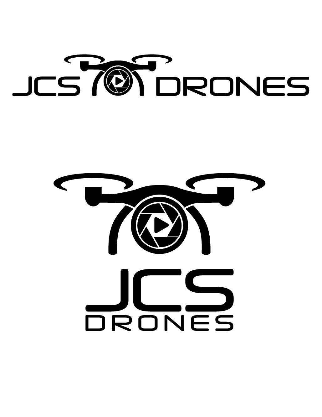 Crisp, clean, professional looking logo for high-end drone photography company