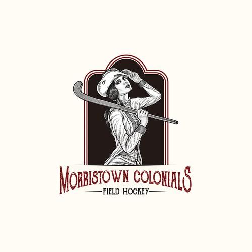 logo concept for field hockey club