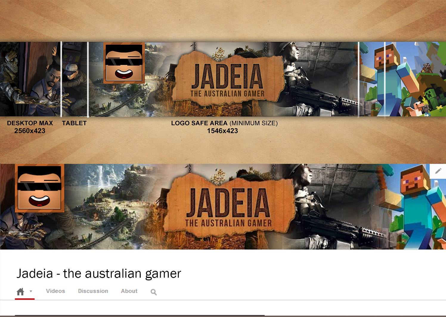 YouTube Channel Art and Channel Icon