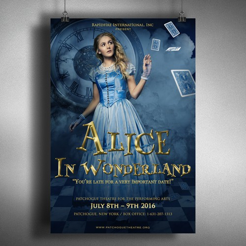 "Poster concept for ""Alice in Wonderland"" show"