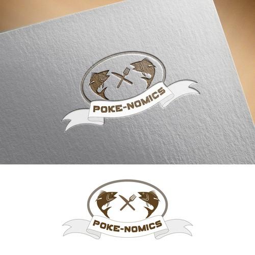 logo for a modern Poke resturant