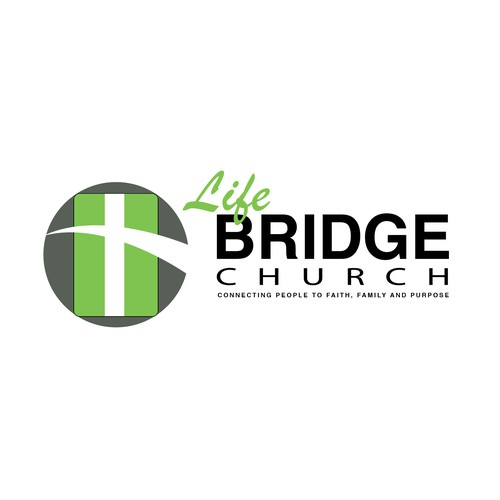 Create a captivating contemporary illustration of Life Bridges for Life Bridge Church.