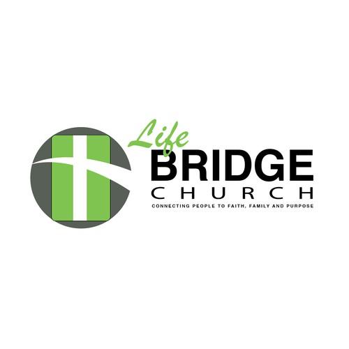 Create a captivating contemporary illustration of Life Bridges for Life Bridge Church.