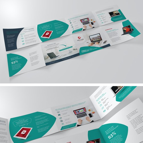 8 side brochure design