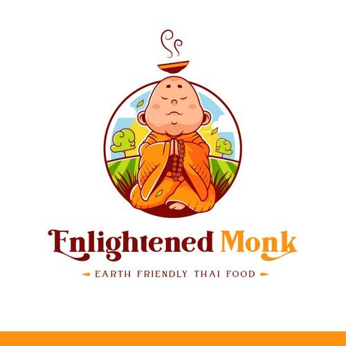 Food Brand Logo for Enlightened Monk