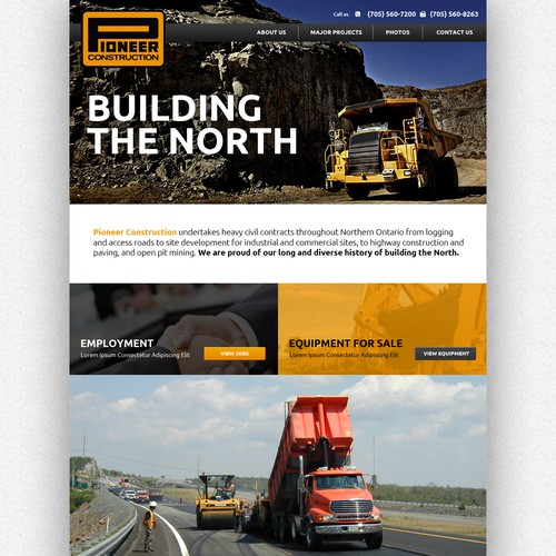 Website for construction company in Canada