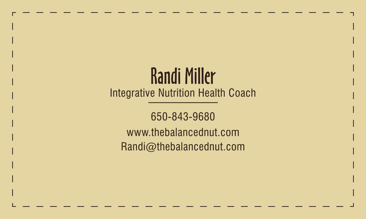 The Balanced Nut Business Card Design