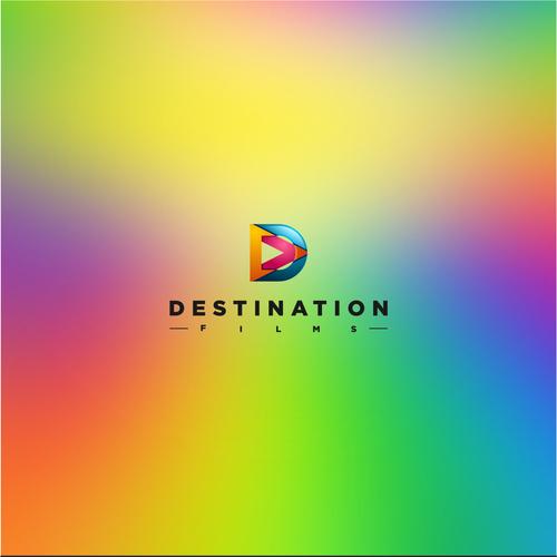 Colorfull logo concept for Destination Films