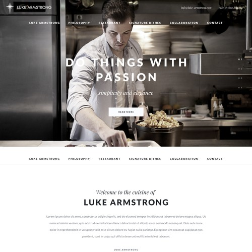 Chef Personal Page