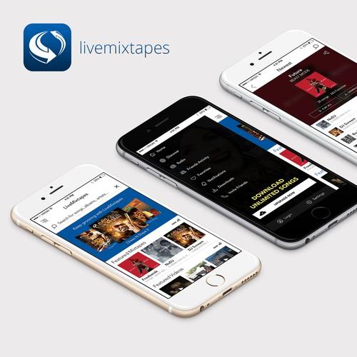 Mobile App Design for LiveMixtapes