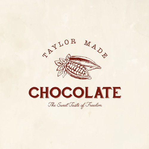 Hand-sketched logo for a Chocolate Factory