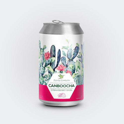 Canned tea drink concept working