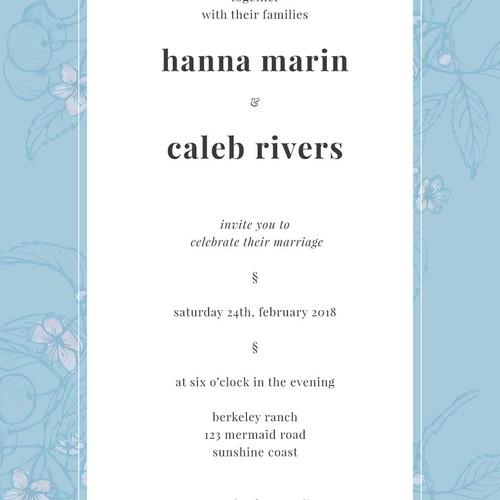 Delicate Wedding Invitation Concept