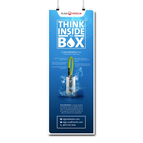 Design a print ad - Think Inside The Box
