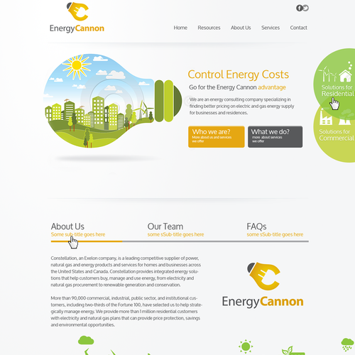 Website for Energy Cannon