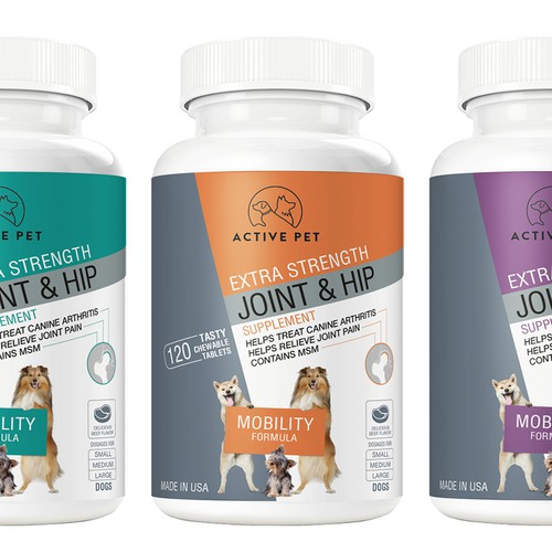 Modern design for Dog Health Supplement