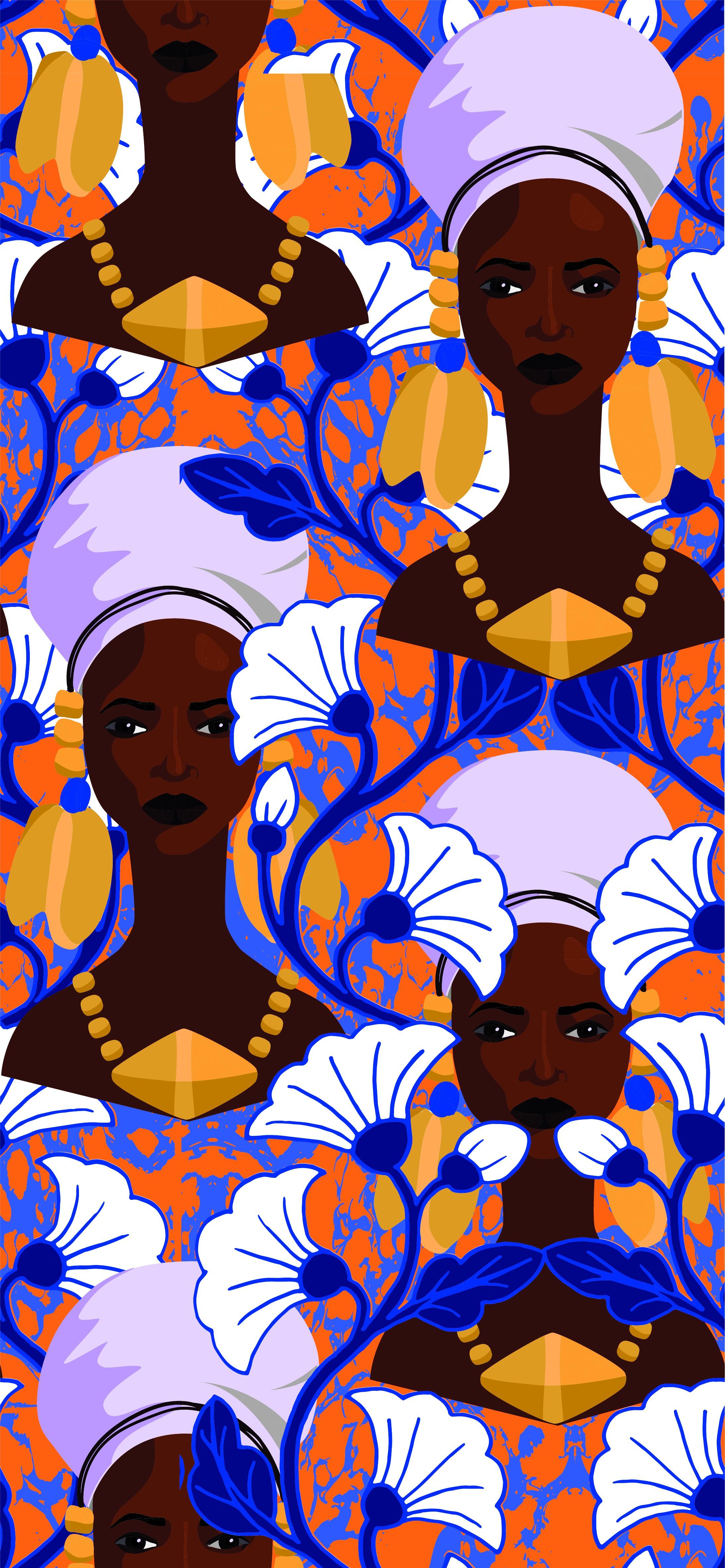 Áfrican woman pattern #26