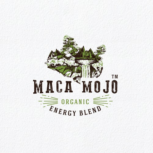 Design a rustic/retro/natural logo for the face of a new herbal energy blend! Simple and clean with individuality.