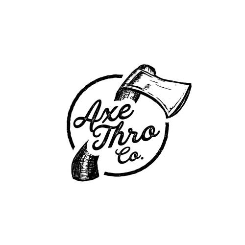 Logo concept for Axe Thro Co