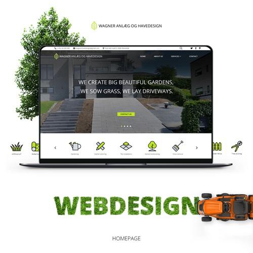 Web design for landscape gardening company