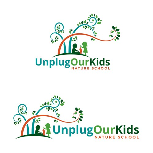 Logo concept for unplug our kids