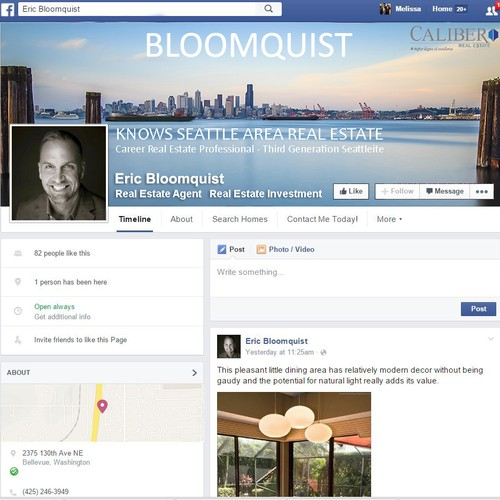 Clean and Classy Professional Facebook Cover Make-over