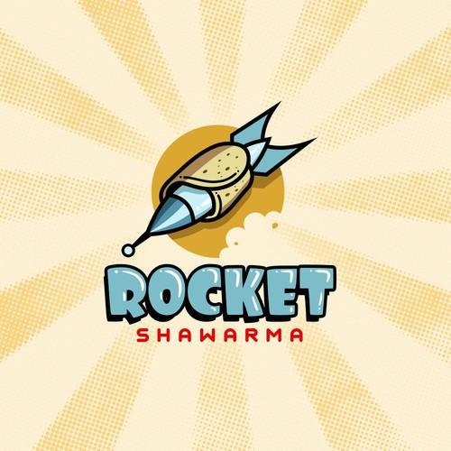 Rocket logo concept.