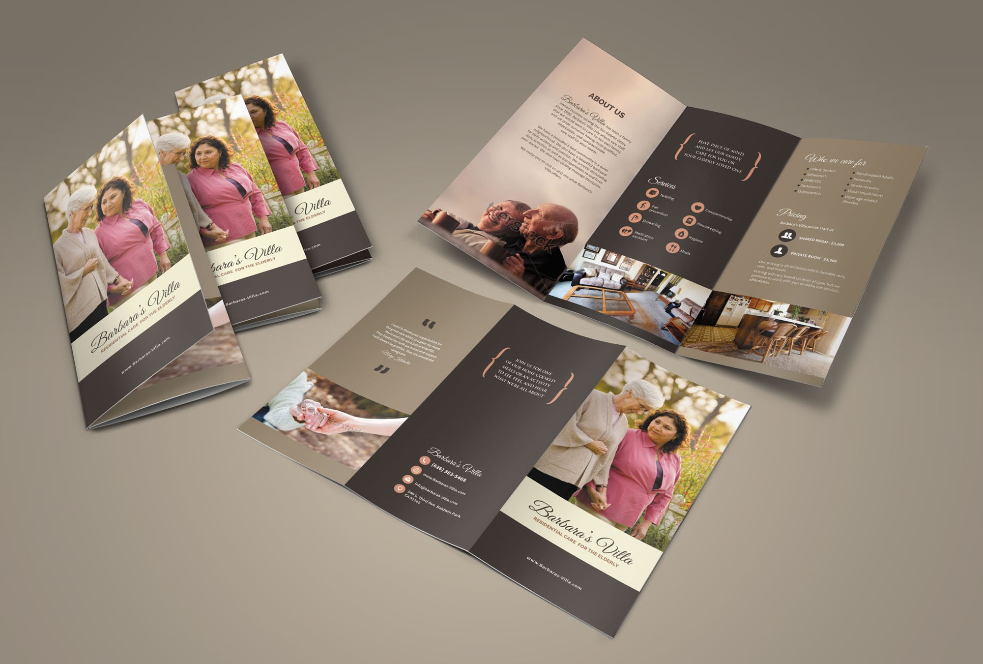 Warm and Inviting Brochure for Retirement Home