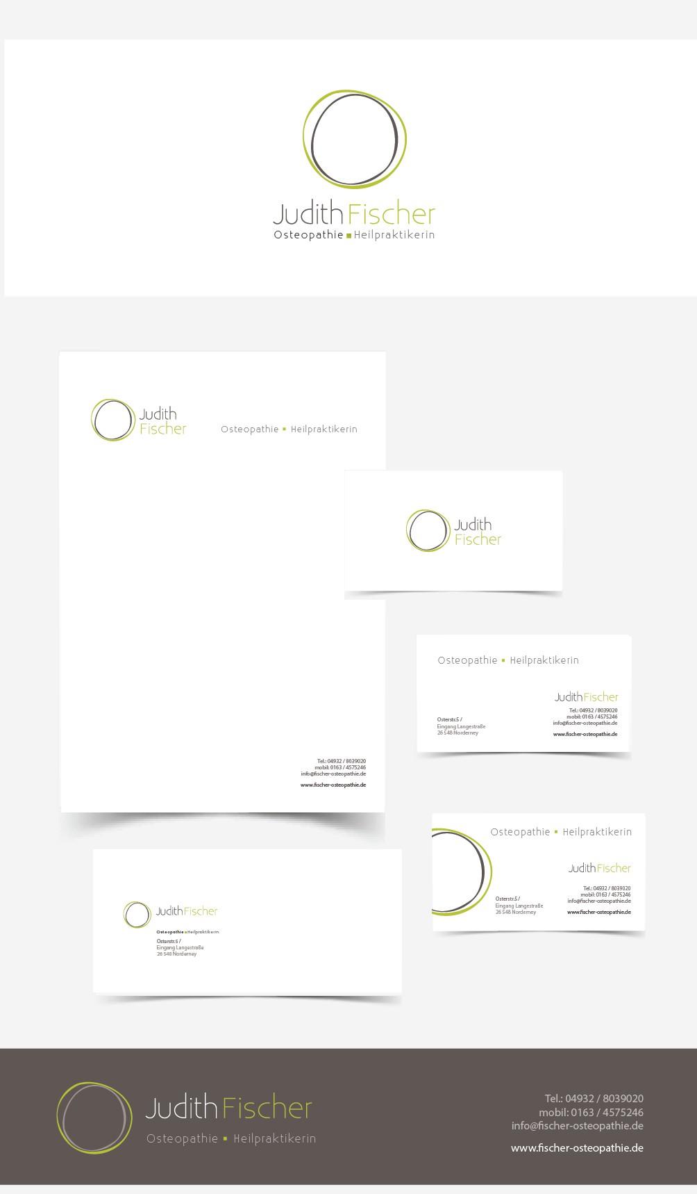 Judith Fischer benötigt ein logo and business card
