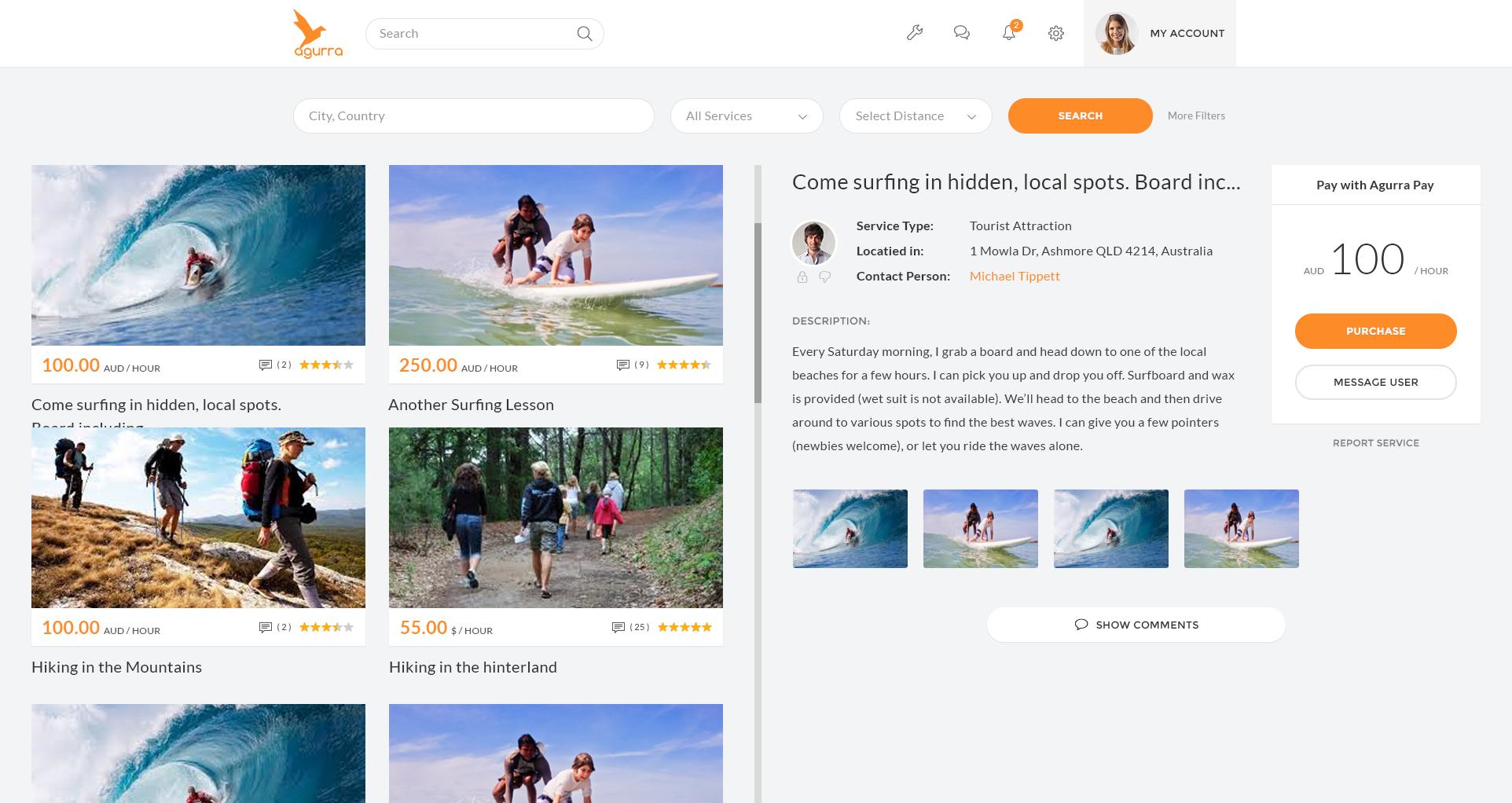 Agurra Website Design