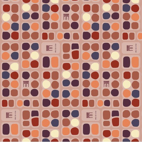 Pattern design for leather products lining