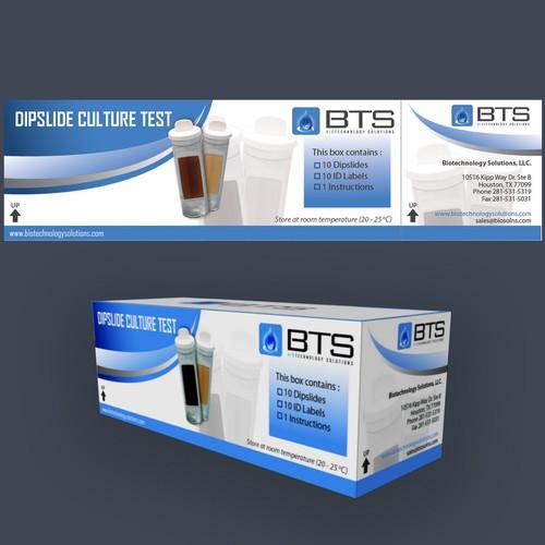 Sticker design for pakaging BTS's Dipslipe Culture Test product
