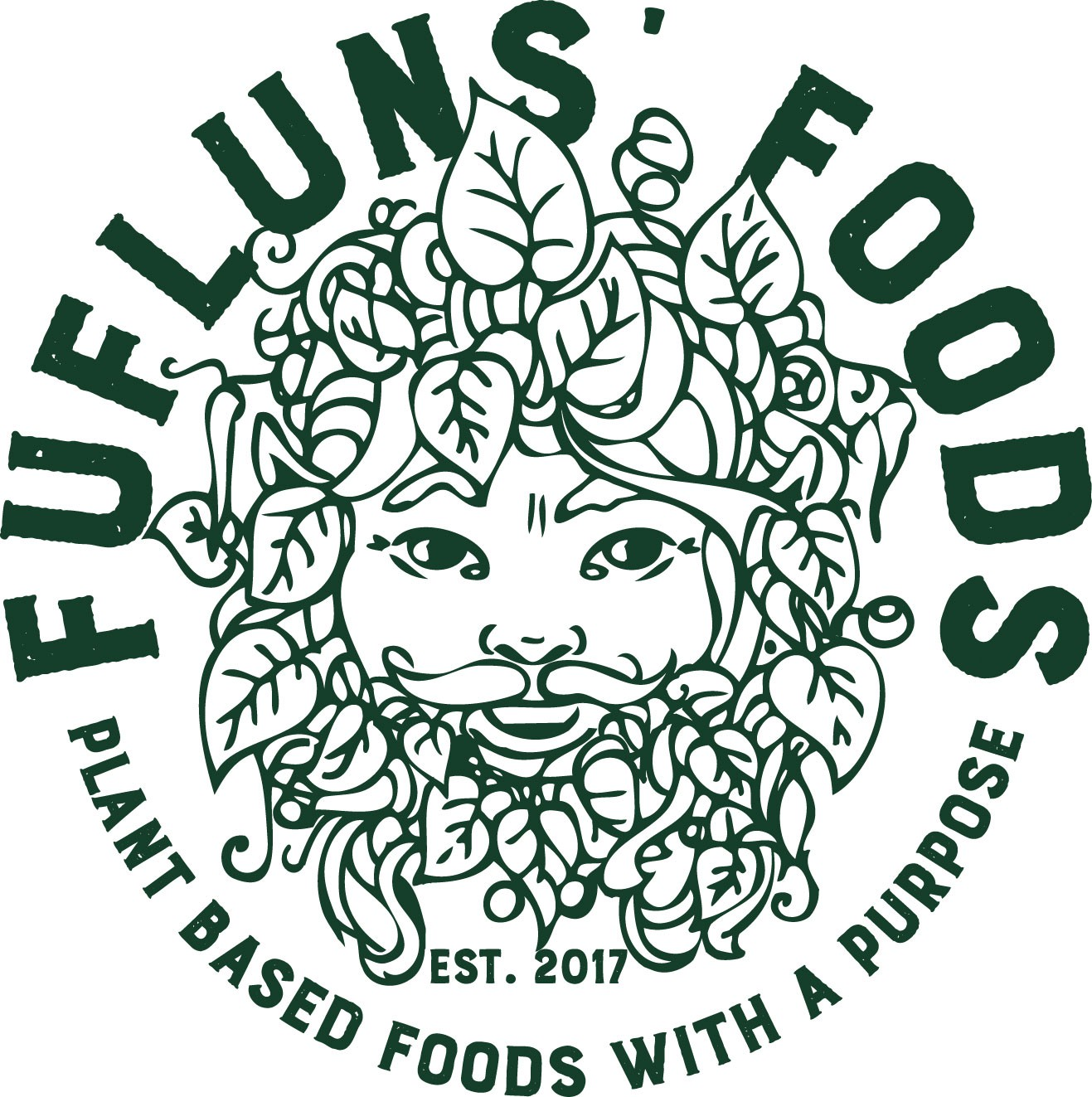 Mythological veggie mascot for a food and beverage company