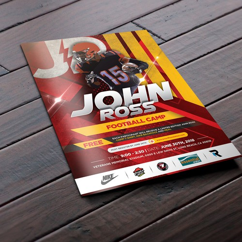 John Ross III Football Camp Flyer