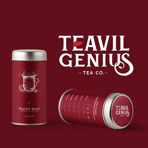 Bold Tea Tin Packaging Design