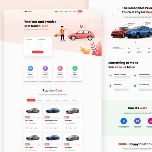 Car Rent Website
