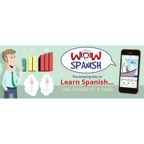 Facebook Cover Design For WOWSPANISH.com