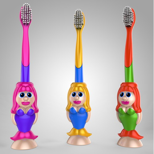 """Denticon"" Kids mermaid toothbrushes"