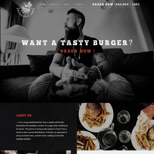 Hipster Style Delivery Website
