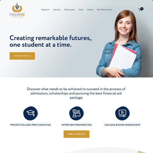 Scholarship Gold | Website for an Educational Consulting Business