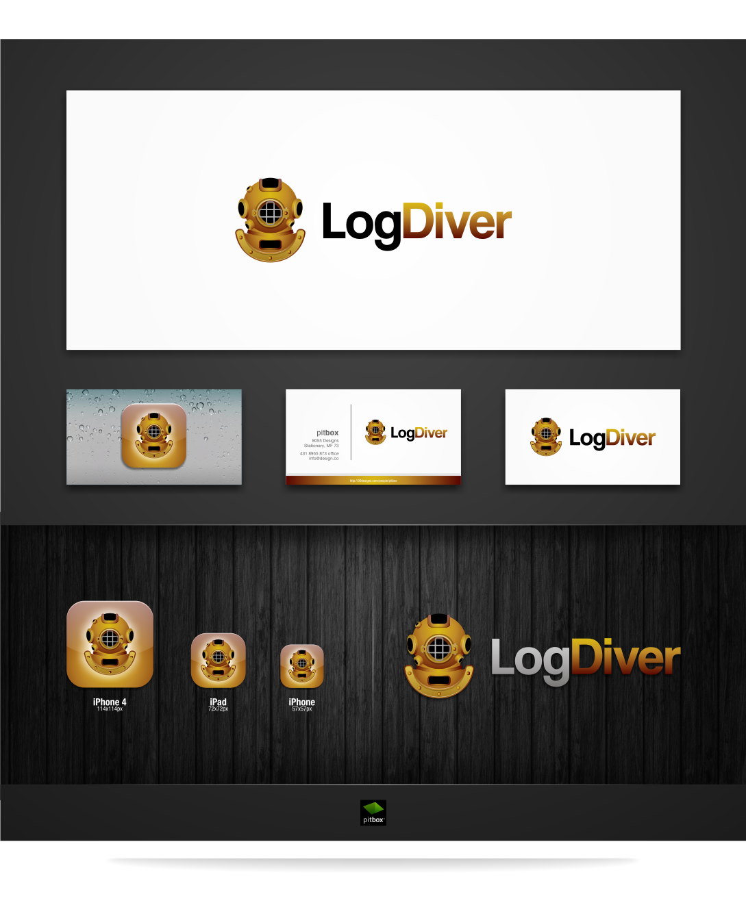 Log Diver application needs a striking logo