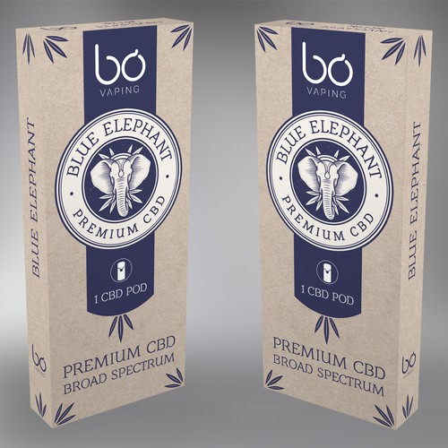 Blue Elephant - Premium CBD packaging design