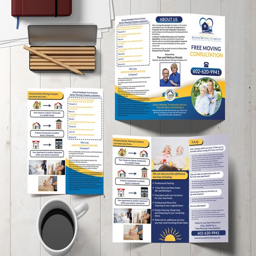 Moving Company Tri-fold Brochure.