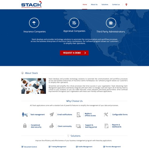 Stack Landing Page