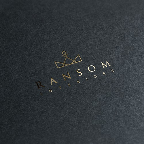 Create a sophisticated, iconic logo for interior design boutique Ransom