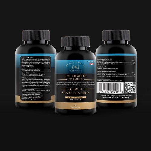 Redesign Luxurious-Looking Medicine Bottle Label for Health Company