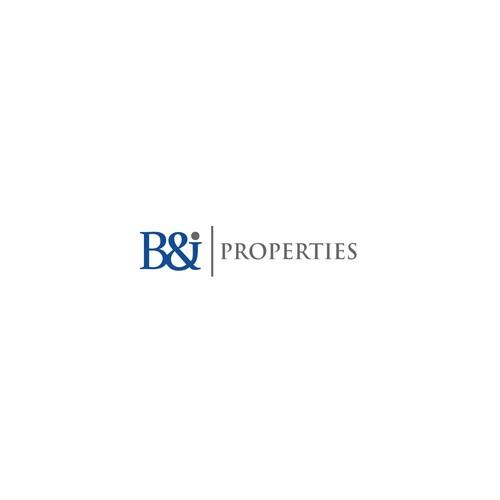 Typeface logo design for B&J Properties