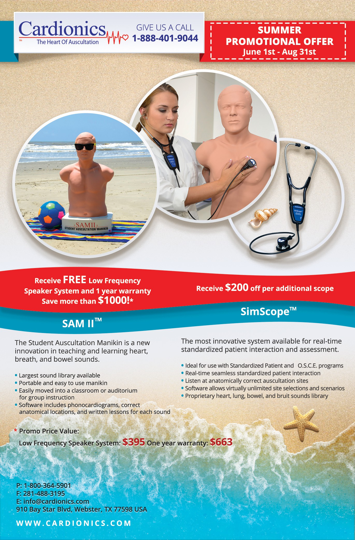 Create a Summer Promo Flyer for Cardionics