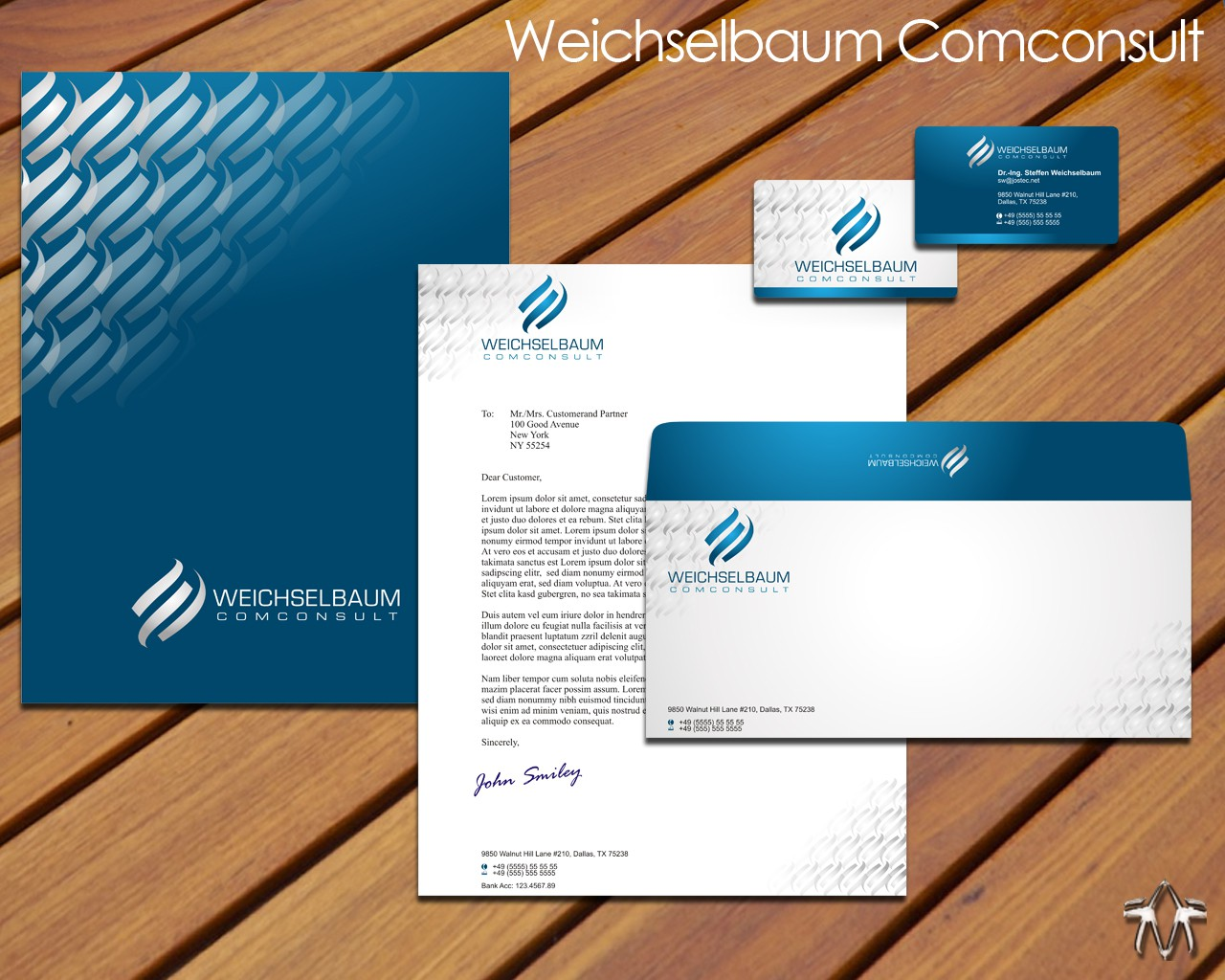 stationery for weichselbaum comconsult